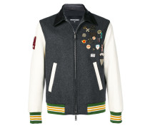 badge bomber jacket