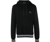 striped rib hoodie