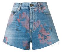 Jeansshorts mit floralem Print