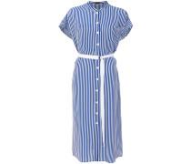 Gestreiftes Kleid mit Knöpfen