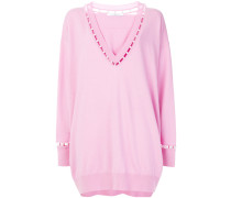 oversized pearl-embellished sweater