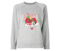 printed logo sweatshirt