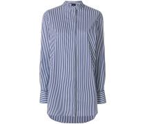 Gestreiftes Hemd mit langem Schnitt
