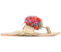 'Leo' Sandalen mit Pompon