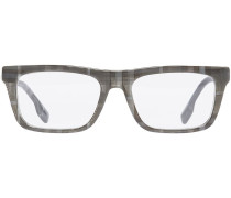 Brille mit Vintage-Check