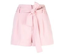 Twill-Shorts mit hohem Bund