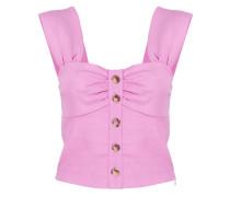 buttoned sleeveless top