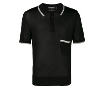 Geripptes Poloshirt