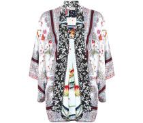 multi-print kimono jacket