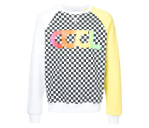Cool Summer colour block and checkered sweatshirt