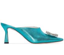 Lottie 75mm crystal embellished mules