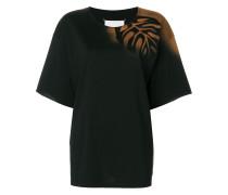 T-Shirt mit Blatt-Print