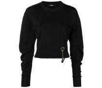 logo embellished knit sweater