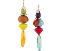 Oversized-Ohrringe mit Perlen
