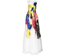 Ausgestelltes Colour-Block-Kleid