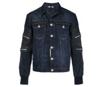Jeansjacke mit Reißverschlüssen