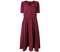 flared pleated midi dress