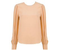 button silk blouse