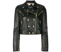 studded leather biker jacket