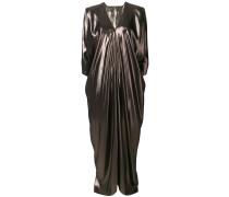 long flared metallic dress