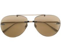 aviator rimless sunglasses