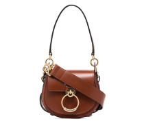 brown tess leather and suede shoulder bag