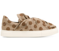 knot front slip-on sneakers - Unavailable