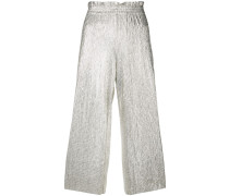 crinkled trousers
