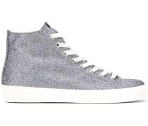 High-Top-Sneakers im Glitter-Look