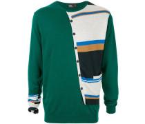 Sweatshirt im Cardigan-Look