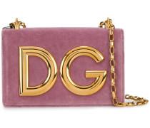 'DG Girls' Samt-Schultertasche