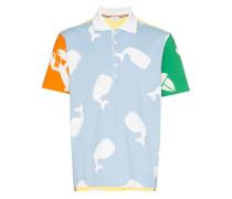 Poloshirt mit Marine-Print