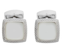 engraved square cufflinks
