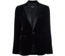 'Tuxedo' Blazer mit Samt-Effekt