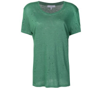 distressed hole T-shirt