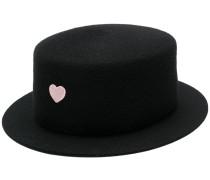 heart embellished hat