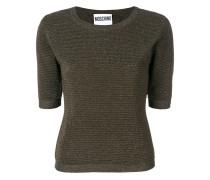 Geripptes Lurex-T-Shirt