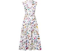 Kleid mit Vogel-Print