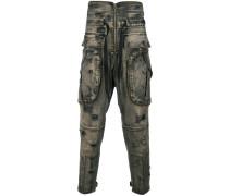 Stone-Wash-Jeans mit tiefem Schritt