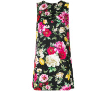 sleeveless shift mini-dress