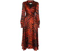 'Nilla' Wickelkleid mit Tiger-Print