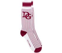 Gestreifte Socken mit Logo