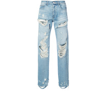 Gerade Jeans mit Distressed-Optik