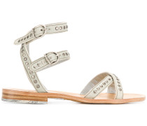 double strap studded sandals
