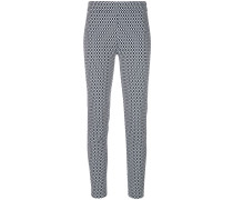 knitted slim-fit trousers
