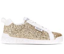 Sneakers mit Glitter-Detail