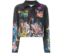 splash paint denim jacket