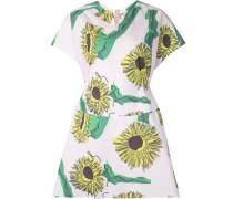 Kleid mit Sonnenblumen-Print