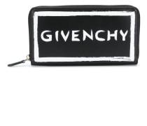 logo zip around wallet
