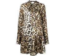 'Lydia' Kleid mit Leoparden-Print
